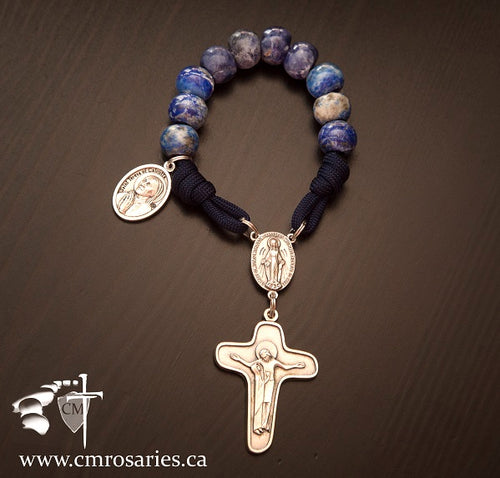 Saint Teresa of Calcutta Pocket Rosary, stone pocket rosary, Our Lady of Sorrows crucifix, Saint Teresa pray for us, Catholic Milestones