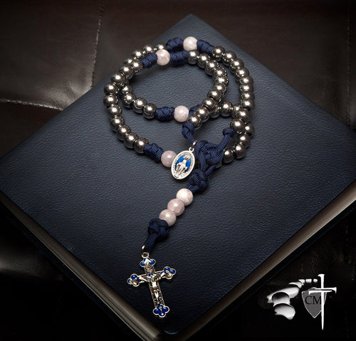 The New Immaculate Conception Rosary with Stone accent beads