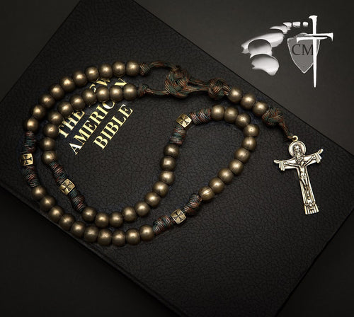 paracord rosary ; and lead us not into temptation but deliver us from evil. Amen.