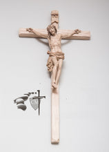 quality Italian artisan carved wood crucifixes, He was conceived of the Holy Spirit born of the virgin Mary