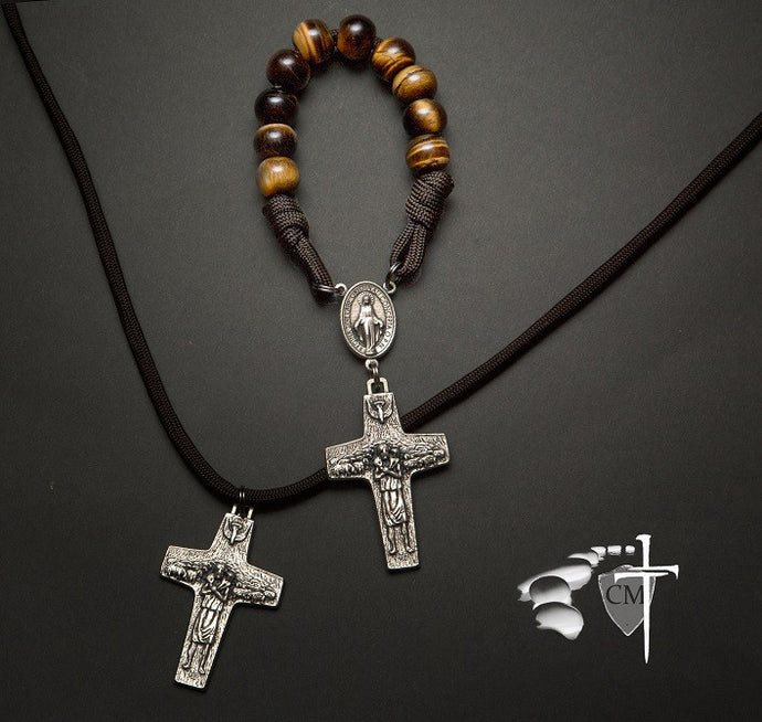 paracord rosary paracord rosaries pope francis vedele good shepherd crucifix pocket rosary stone rosary