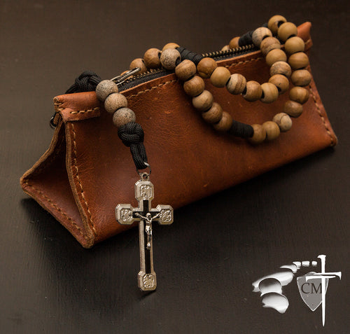 paracord rosary, paracord rosaries, paracord stone rosary, cord rosary, cord rosaries, Picture Jasper Deus Vult paracord rosary, Via Crucis crucifix, wedding gift, car rosary, auto rosary, men's rosary, groomsmen gift, graduation gift, Holy Orders gift, men's gift, Catholic home decor, Catholic Milestones, Ottawa Ontario, Canada