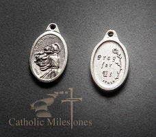 rosary medal, St. Anthony of Padua, paracord rosary, paracord rosaries, cord rosary, cord rosaries, rosary, rosaries, Canada, CMRosaries, Catholic Milestones, Ottawa online store