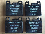Brake pad set Textar FTE T426