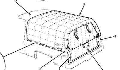 Cargo area cover General Motors GM 14075881 cucv