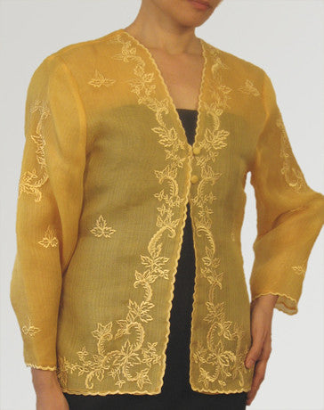 Women's Jacket Gold Cocoon silk 100147 Gold