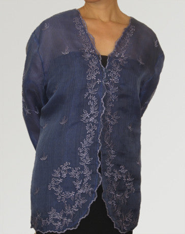 Women's Jacket Royal Blue Cocoon silk 100148 Royal Blue