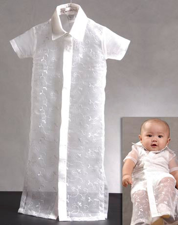 Boys' Barong-gown 100154 White Made-To-Order