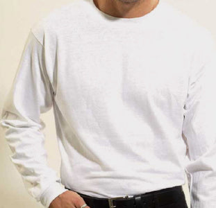 Men's Long sleeve undershirt White Cotton 100162 White