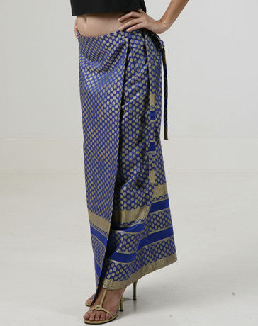 Women's Malong Royal Blue Silk 100167 Royal blue