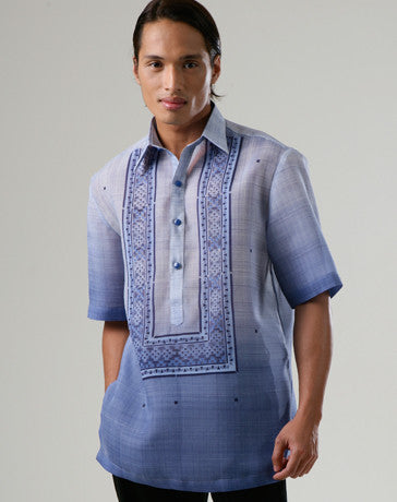 Men's Barong Blue Jusi fabric 100170 Blue