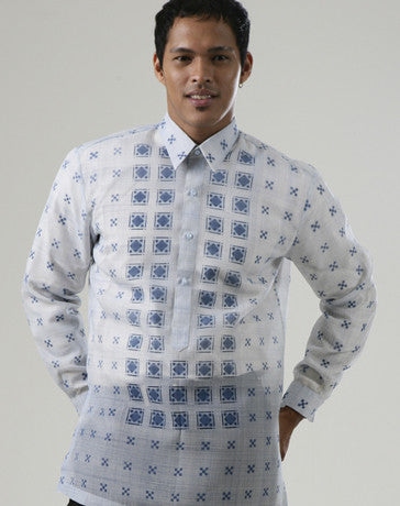 Men's Barong Blue Jusi fabric 100172 Blue