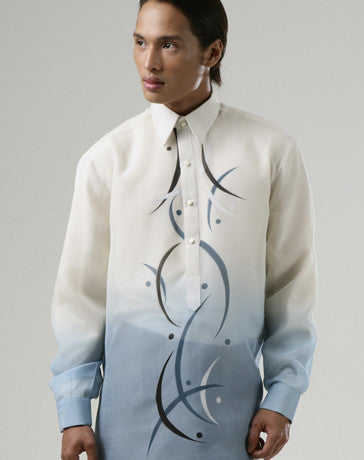 Men's Barong Sky blue Jusi fabric 100173 Sky blue