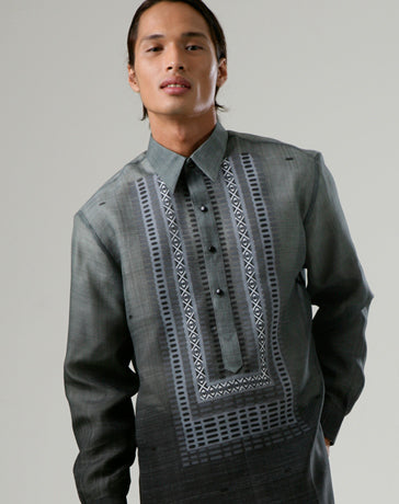 Custom Tailor Barong 100176 Gray