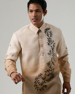 Custom Tailor Barong 100177 Light brown