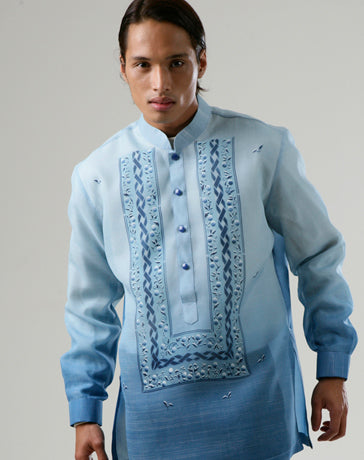 Men's Barong Blue Jusi fabric 100178 Blue