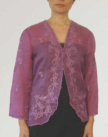 Women's Jacket Purple Cocoon silk 100227 Purple