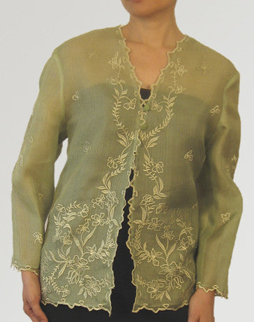 Women's Jacket Aloe Cocoon silk 100231 Aloe