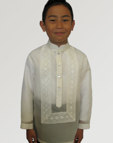 Boys' Barong Cream Jusi fabric 100242 Cream