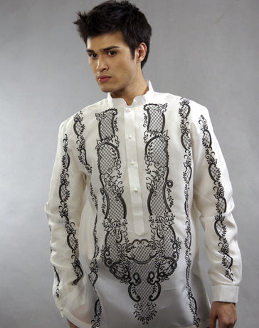 Men's Barong White Jusi fabric 100307 White