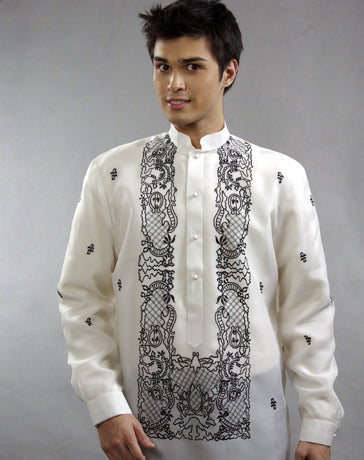 Men's Barong White Jusi fabric 100308 White