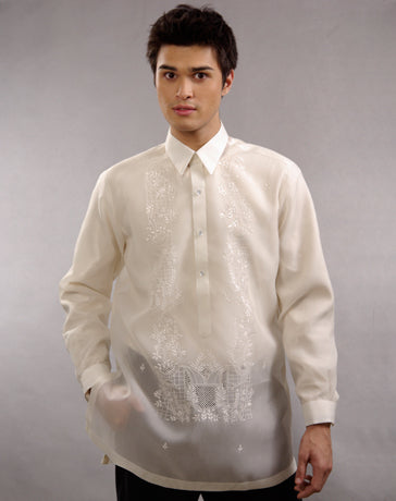 Men's Barong Cream Jusi fabric 100365 Cream