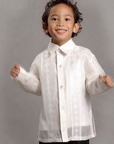 Boys' Barong Cream Jusi fabric 100373 Cream