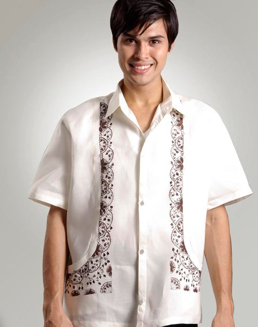 Men's Barong Tagalog 100412 Cream Made-To-Order