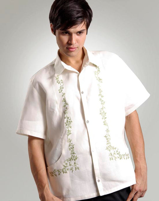Men's Barong Tagalog 100414 Cream Made-To-Order