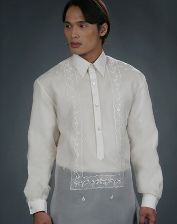 Men's Barong Cream Jusi fabric 100440 Cream