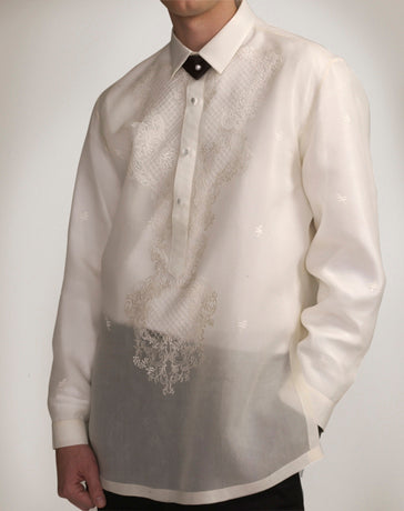 Men's Barong Cream Jusi fabric 100441 Cream