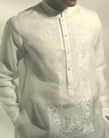 Men's Barong Cream Jusi fabric 100771 Cream