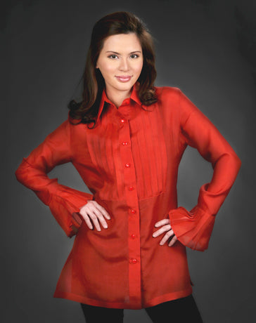 Women's Barong Red Jusi fabric 100457 Red