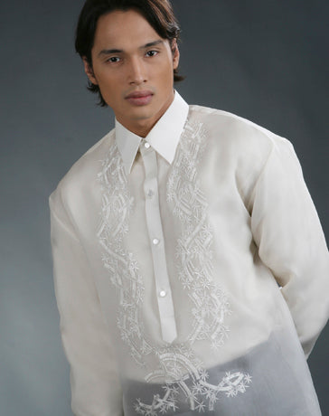 Men's Barong Cream Jusi fabric 100477 Cream