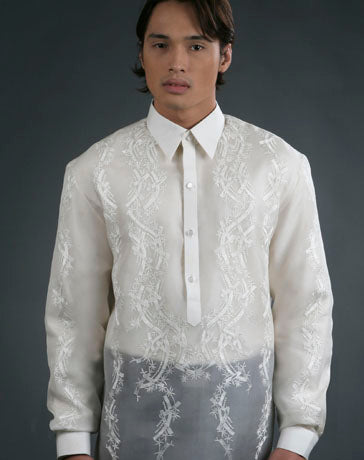 Men's Barong Tagalog 100478 Cream Made-To-Order