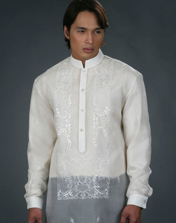 Men's Barong Cream Jusi fabric 100479 Cream