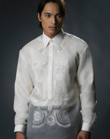 Men's Barong Cream Jusi fabric 100480 Cream