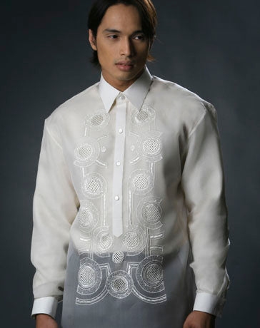 Men's Barong Tagalog 100480 Cream Made-To-Order