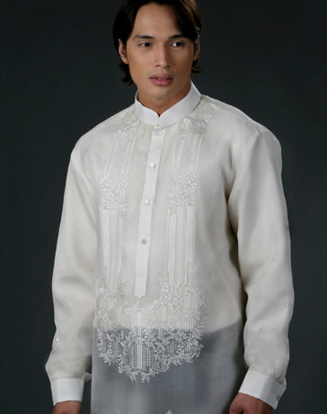 Men's Barong Tagalog 100481 Cream Made-To-Order