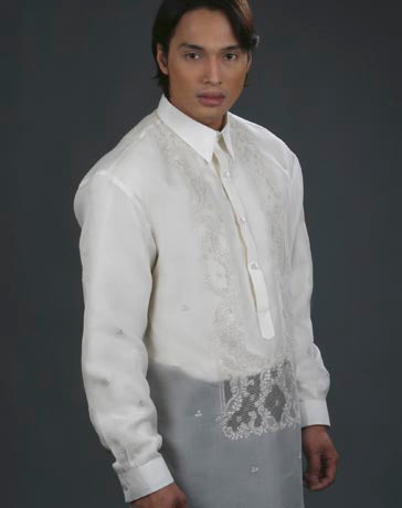 Men's Barong Tagalog 100483 Cream Made-To-Order