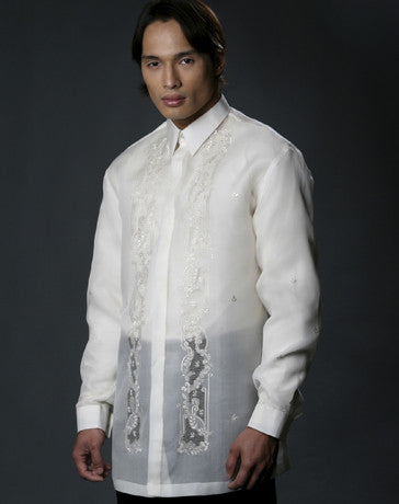 Men's Barong Cream Jusi fabric 100484 Cream