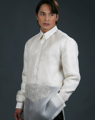 Men's Barong Tagalog 100485 Cream Made-To-Order