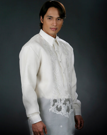 Men's Barong Tagalog 100489 Cream Made-To-Order