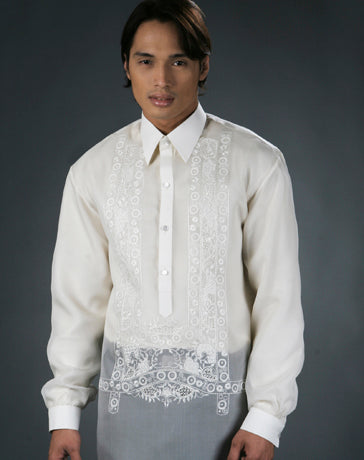 Men's Barong Cream Jusi fabric 100490 Cream