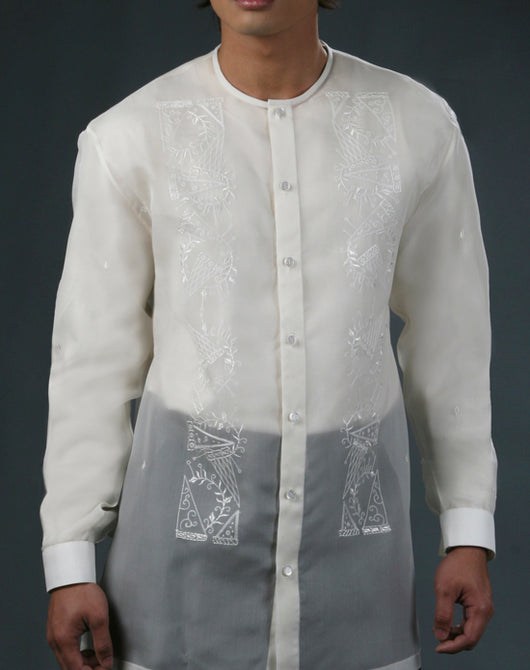 Men's Barong Tagalog 100491 Cream Made-To-Order