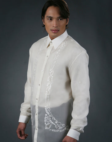 Men's Barong Cream Jusi fabric 100494 Cream