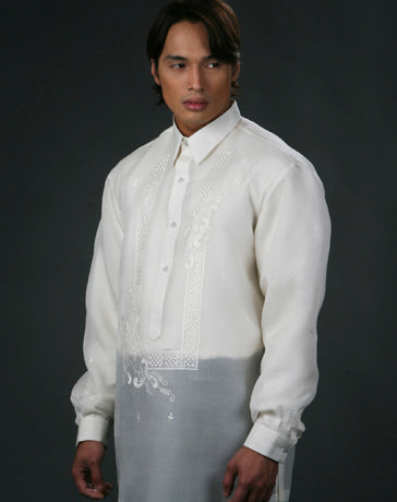 Men's Barong Tagalog 100495 Cream Made-To-Order