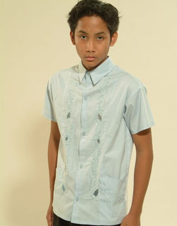 Boys' Barong Light Blue Cotton 100501 Light Blue