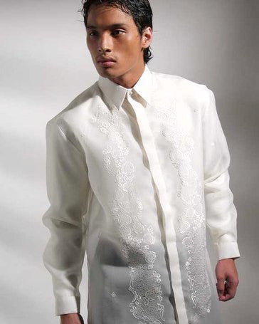 Men's Barong Cream Jusi fabric 100520 Cream