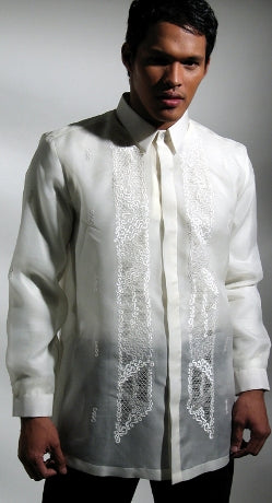 Men's Barong Cream Jusi fabric 100521 Cream